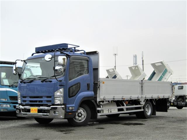 いすゞ アルミブロック アルミブロック 積載量3.45t ワイド リアエアサス 荷台床板張り 5方開 HID 坂道発進補助装置