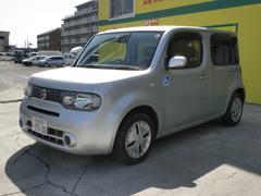 キューブ 車いす使用車スロープタイプ 助手席側リアシート付 セーフティバー 電動固定装置 NAVI スマートキー