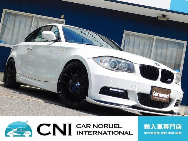 BMW 1シリーズ 135i 中期型 Mスポーツ ツインターボ MパフォーマンスD席バケットシート M専用エアロ Fリップスポイラー 社外19AW サンルーフ 黒本革シート シートヒーター 純正HDDナビ iDrive