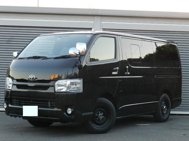 トヨタ ロングDX 革調シートカバー ベッドキッド 純正SDナビ
