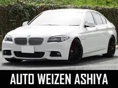 BMW535i 直6ターボiDrive地デジ黒革SR車高調20AW