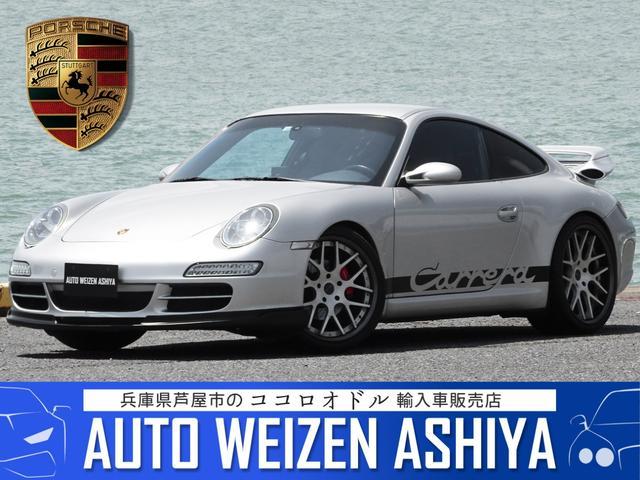 ポルシェ 911 911カレラ 正規ディーラー車/左ハンドル/アークティックシルバー/黒革/ストラーダ ナビ 走行中TV カメラ/ETC2.0/前後ドラレコ/レ-ダー/エアクリ/ZSS車高調/HF20AW/ゲンバラRスポ/LED