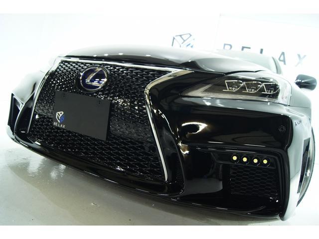 レクサス IS250バージョンL新品スピンドル新品3眼ライト新品車高調
