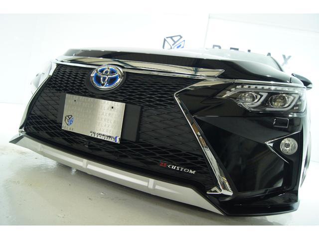 トヨタ カムリ ハイブリッド Gパッケージ ワンオーナー 新品スピンドルバンパー 新品BLIZ車高調 新品19アルミ 新品タイヤ 新品シーケンシャルヘッドライト