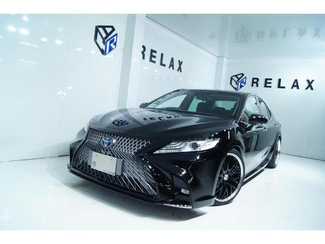 トヨタ カムリ G 新品スピンドルバンパー 新品19ホイール 新品タイヤ 新品BLIZ車高調 パワーシート 100V電源