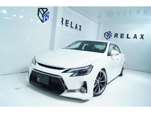 トヨタ マークX 250G リラックスセレクション・ブラックリミテッド 新品Gs仕様 新品19ホイール 新品タイヤ 新品車高調 ストラーダ地デジナビ バックカメラ ETC