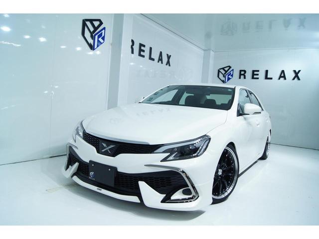 トヨタ マークX 250G Fパッケージ 新品モデリスタ 新品ヘッドライト 新品19ホイール 新品タイヤ 新品車高調 社外ナビ ETC