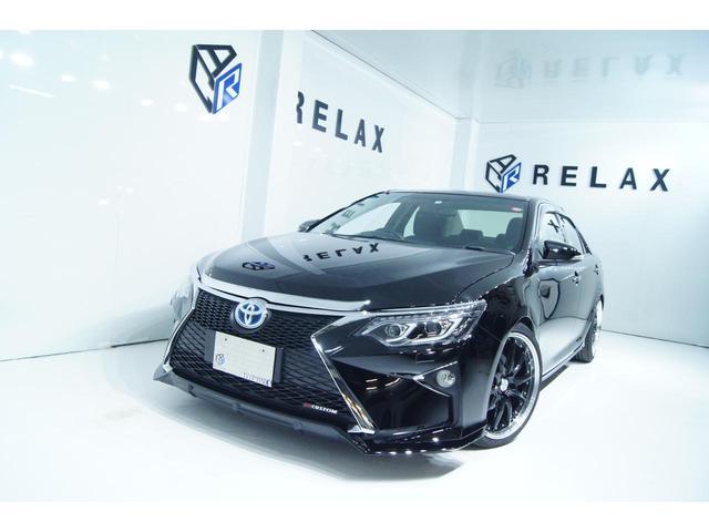 トヨタ カムリ ハイブリッド Gパッケージ ワンオーナー 新品スピンドルバンパー 新品19ホイール 新品タイヤ 新品車高調 純正HDDナビ パワーシート