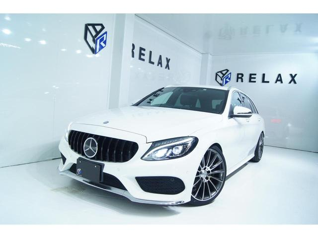 メルセデス・ベンツ C180 ステーションワゴン スポーツ 本革仕様 新品パナメリカーナ仕様 新品19ホイール 新品タイヤ 新品車高調
