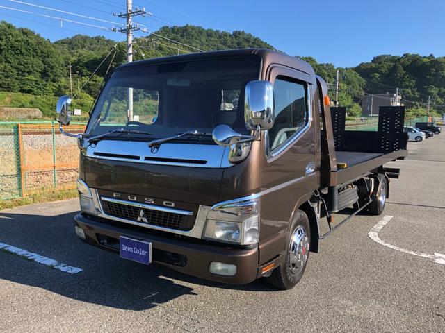 三菱ふそう 積載車 180PS フラトップ 2019全塗装済 新品メッキ