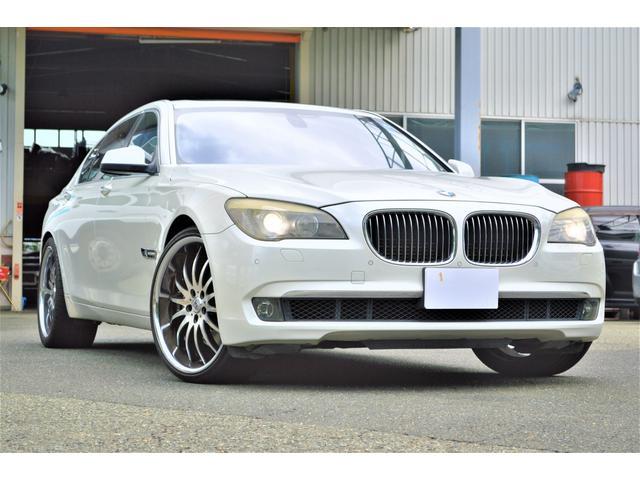 BMW 750Li HDDナビ 黒本革 サンルーフ 社外アルミ