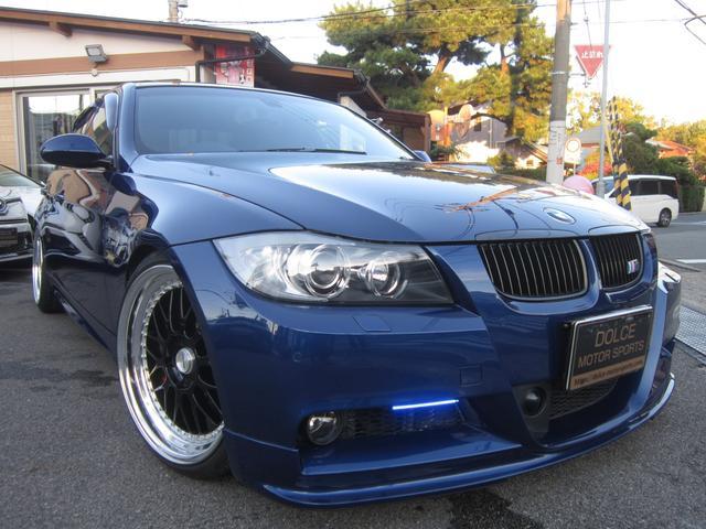 BMW 335i Mスポーツパッケージ SR 黒革 Work19AW マイスターM1 ブリッツダンパZZ-R ARQRAY4本出しマフラー 社外フロントリップ カーボンデュフューザー カーボントランクスポイラー afe エアインテーク