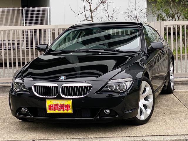 BMW 645Ci ミラー型ETC 障害物センサー 黒本革シート サンルーフ 純正19インチホイール シートヒーター パワーシート ディーラー下取り ケンサ2年付き 屋内保管