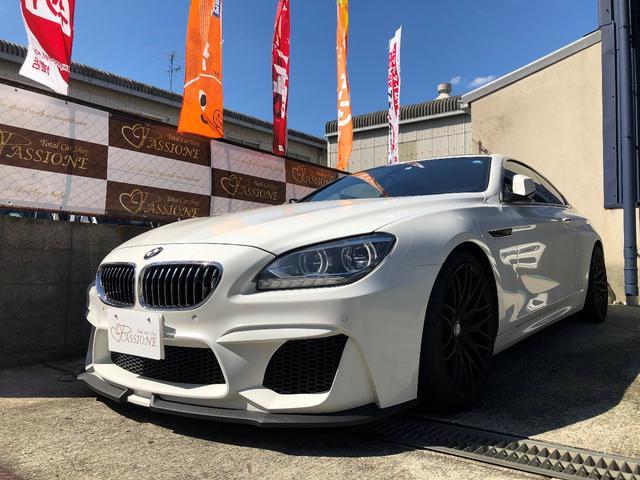 BMW 6シリーズ 640iクーペ 社外4本出しマフラー WALDエアロ エナジーアルミ ローダウン コンフォートアクセス アイドリングストップ サンルーフ バックカメラ ETC クルコン シートヒーター メモリ機能付きパワーシート
