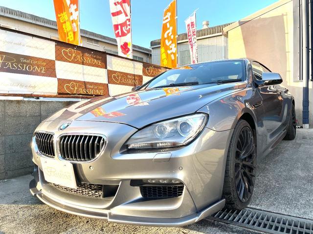 BMW 640iグランクーペ Mスポーツパッケージ 3Dデザインマフラー ブレイトン20アルミ コンフォートアクセス ルームミラー一体型ETC フロントリップ 社外リアディフューザー サンルーフ メーカーナビ シートヒーター フルセグ 革シート