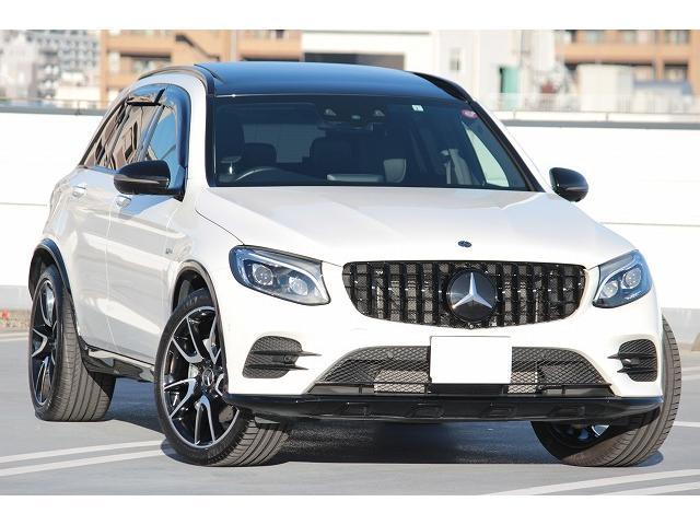 メルセデスAMG GLC GLC43 4マチック パナメリカーナグリル ガラスサンルーフ レザー 車検令和4年2月まで