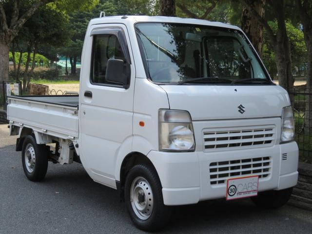 スズキ KCエアコン・パワステ 3方開 4WD 法定整備付