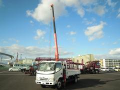 デュトロ2.63t吊3段クレーン付 ラジコン付 高床車
