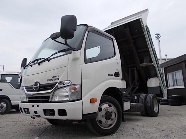 日野 4WD・2t積ダンプ・コボレーン付・低床