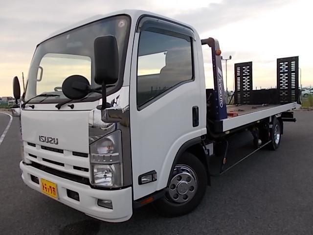 いすゞ 3t積・6MT・積載車・ワイド・超ロングボディ