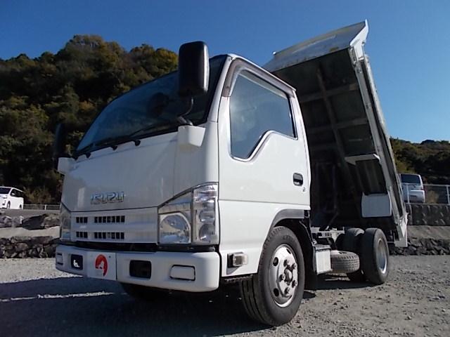 いすゞ エルフトラック 3t積み・ブル掛け・コボレーン・全低床・6MT・中間ピン