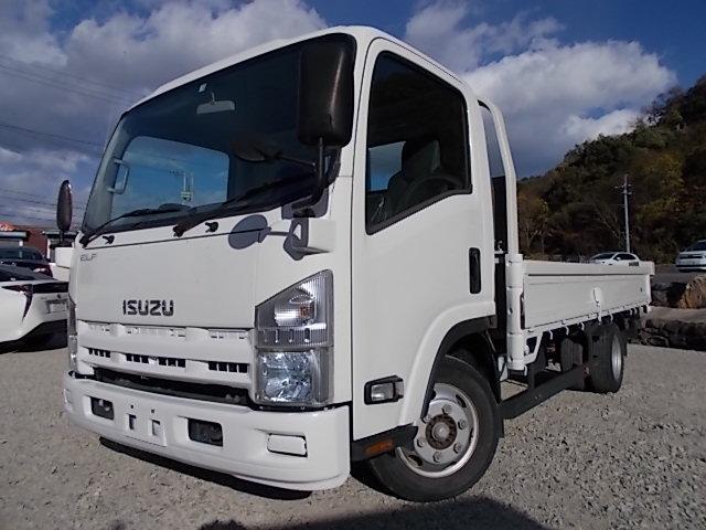 いすゞ エルフトラック 3t積・ワイドロング・平ボディ・6MT
