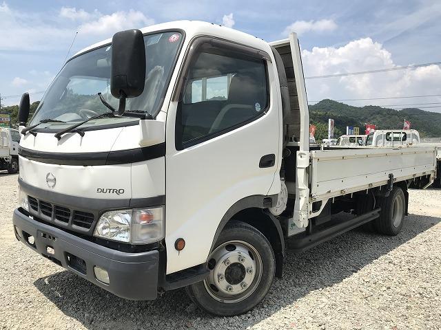 デュトロ 3.5t積・ワイド・ロング・平ボディ・6MT・ワンオーナー車