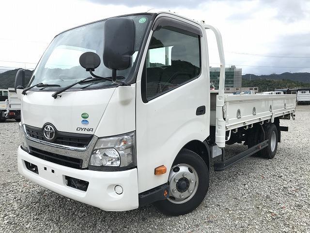 トヨタ ダイナトラック 3.5t積・6MT・ワイド・ロング・平ボディ・ロープ穴4対
