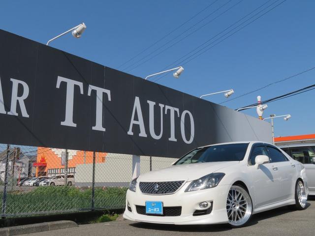 トヨタ 3.5アスリート 車検整備付 スマートキープッシュエンジンスタート 純正メーカーナビ バックモニター フルセグTV Bluetooth 車高調 BBS20インチアルミ 黒革調シートカバー 純正ビルトインナビ連動ETC