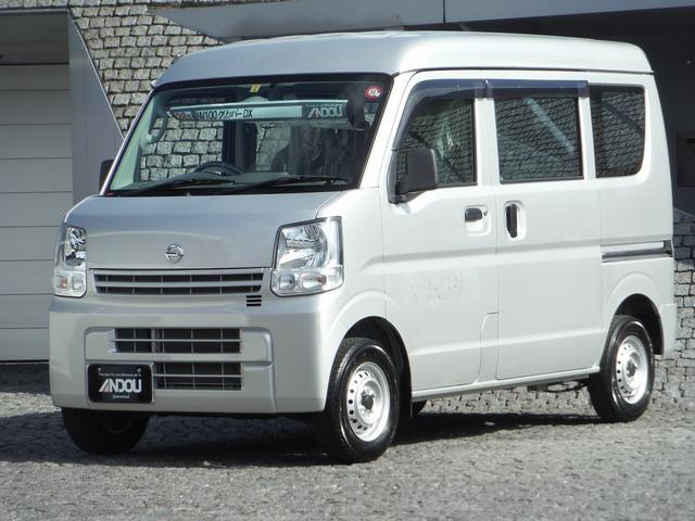 日産 DX ハイルーフ・社外メモリーナビ・エアコン・パワステ ライトレベライザー・Wエアバッグ・ABS
