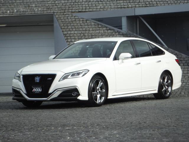トヨタ クラウン RS メーカーSDナビ・バックモニター・プリクラッシュS LEDライト&フォグ・レーダークルーズ・LTA・クリアランスソナー・パドルシフト・純正18インチアルミ・ETC