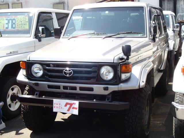 トヨタ ランドクルーザー70 ZX ロング ディーゼル 4WD ロング サンルーフ リフトアップ 社外バンパー 社外アルミ o/pデフロック リアラック