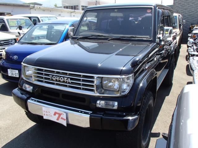 ランドクルーザープラド SXワイド ディーゼルターボ 4WD 社外アルミ サンルーフ リフトアップ ブラックオールペン 1ナンバー