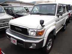 ランドクルーザー70バン 4WD ワンオーナー ETC デフロック 純正ナビ TV フロント&リアドライブレコーダー Wエアバッグ ABS