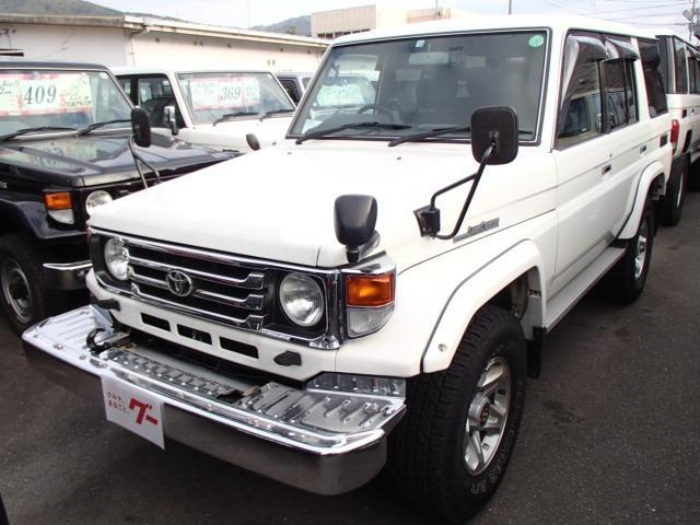 トヨタ ランドクルーザー70 ZX ロング 5速MT 4WD ディーゼル サンルーフ 社外ナビ TV バックモニター ドライブレコーダーナルディハンドル