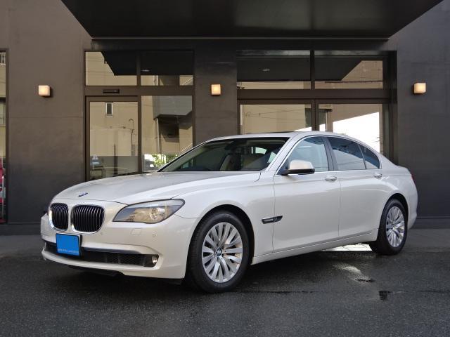 BMW 740i HDDナビ 地デジTV ベージュ革 SR HID