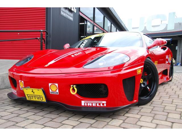 フェラーリ モデナF1 チャレンジ仕様フルカスタム!新品含む後付けカスタム329万円以上!パワクラ可変マフラー!エンケイ&ディノコラボ鍛造18アルミ・新品カーボンGTウィング!フルエアロ・特注デカール新品デカールKIT他多数