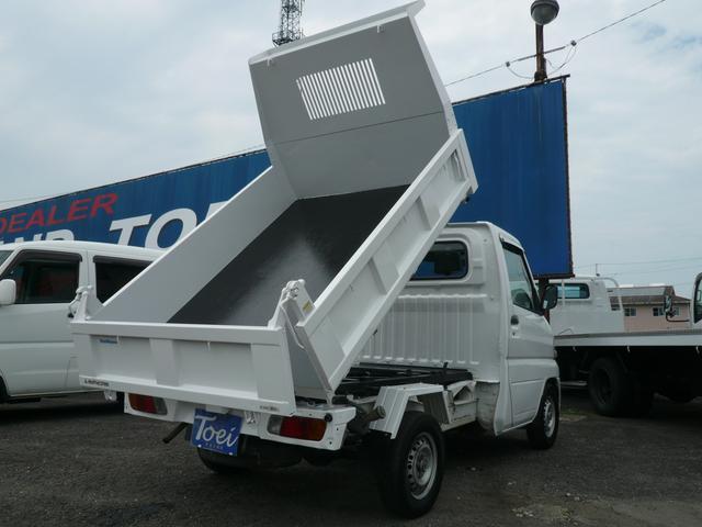 三菱 ミニキャブトラック 天突ダンプ 4WD エアコン パワステ 5MT PTO式ダンプ