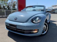 VW ザ・ビートル・カブリオレベースグレード D車 1オナ 黒革 黒幌 ナビTV 17AW