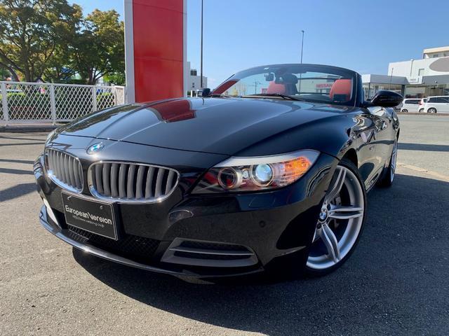 BMW Z4 sDrive35i ディーラー車 左ハンドル 赤革パワーシート シートヒーター メタルトップ電動オープン iDrive純正HDDナビTV Mスポーツ用パドルシフト ビルシュタインショック ダウンサス Mスポーツ用19AW