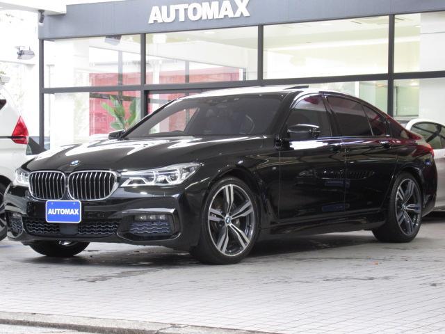 BMW 740i Mスポーツ ガラスサンルーフ リアコンフォートパッケージ リアエンターテイメント インテリセーフティ ACC 全席ベンチレーションシート メモリー付きパワーシート ブラックレザーシート 純正20インチAW