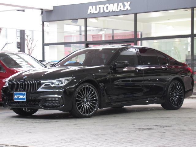 BMW 740i Mスポーツ ACC インテリセーフティ 右ハンドル サンルーフ 純正21インチアルミホイール ハーマンカードンスピーカー ベンチレーションシート ブラックレザーシート 前後パークディスタンスコントロール