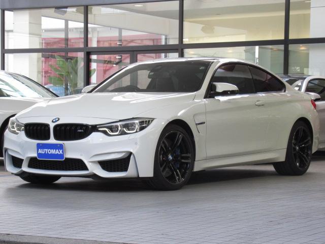 BMW M4クーペ 後期モデル 右ハンドル 6速MT 1オーナー アダプディブMサスペンション 前後パークディスタンスコントロール 純正19インチアルミホイール カーボンルーフ