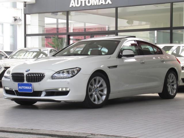 BMW 6シリーズ 640iグランクーペ 右ハンドル ガラスサンルーフ ソフトクローズドア レッドレザーシート ベンチレーションシート メモリー付きパワーシート リアシートヒーター 前後パークディスタンスコントロール LEDヘッドライト