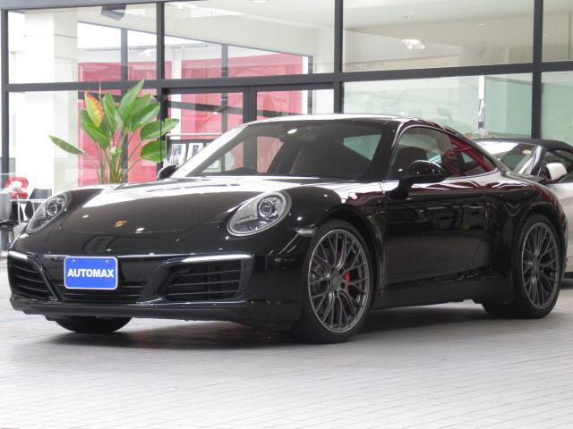 ポルシェ 911 911カレラS ディーラー車 右ハンドル PDK スポーツクロノパッケージ スポーツエキゾースト ブラックレザーシート シートヒーター RSスパイダー20インチAW 前後パーキングアシストセンサー PDLS