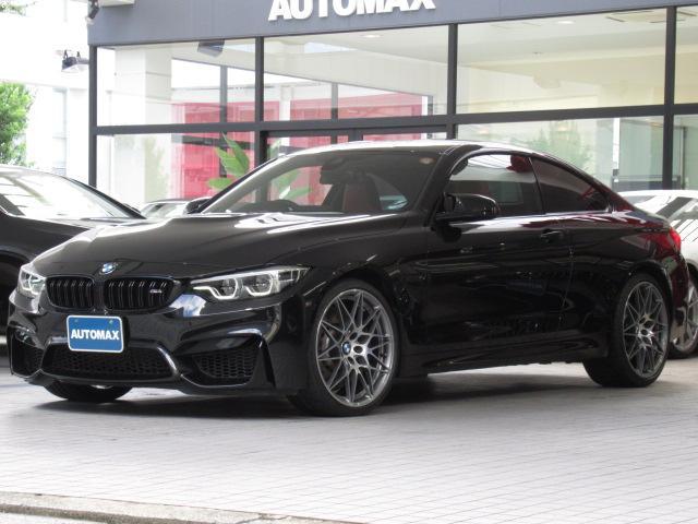 BMW M4クーペ コンペティション ディーラー車 右ハンドル 後期モデル LEDヘッドライト 前後パークトロニックセンサー カーボンルーフ ヘッドアップディスプレイ 純正19インチAW ハーマンカードンスピーカー