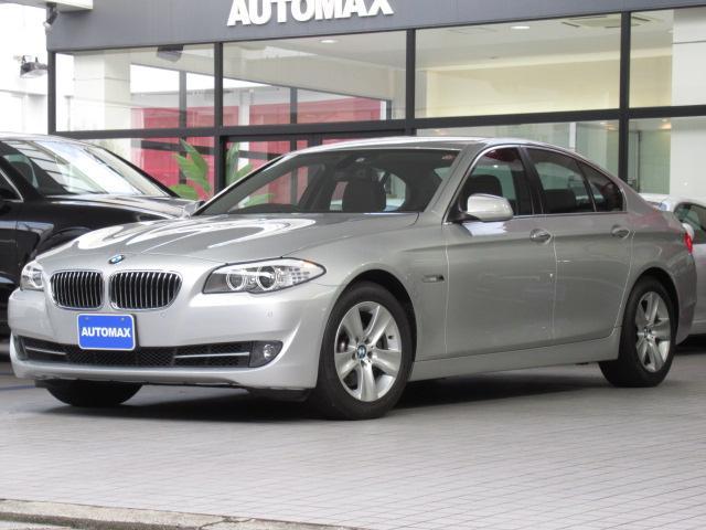 BMW 5シリーズ 528i キセノンヘッドライト 前後パークディスタンスコントロール 純正17インチアルミホイール ブラックレザーシート シートヒーター メモリー付きパワーシート オートエアコン コンフォートアクセス