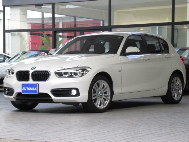 BMW 1シリーズ 118d スポーツ 1オーナー インテリジェントセーフティ LEDヘッドライト Msports17インチアルミホイール リアパーキングアシストセンサー 純正iドライブナビ バックカメラ