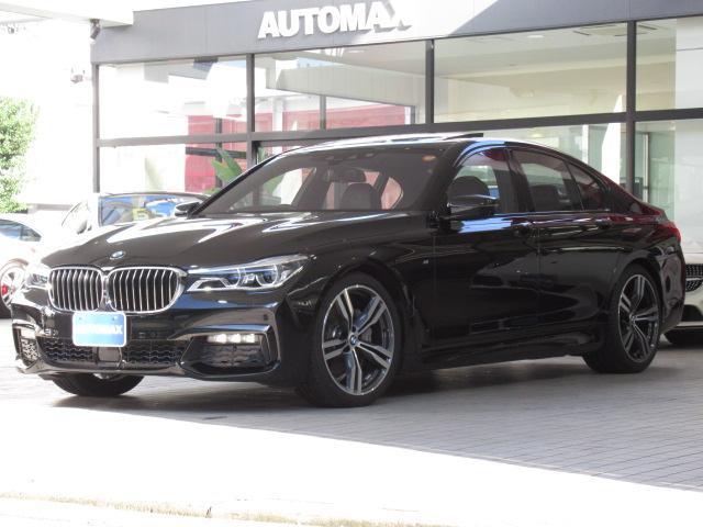 BMW 740i Mスポーツ 1オーナー 純正20インチAW ガラスサンルーフ ACC ハーマンカードンスピーカー LEDレーザーライト ベンチレーション シートヒーター パワーバックドア ブラックレザーシート