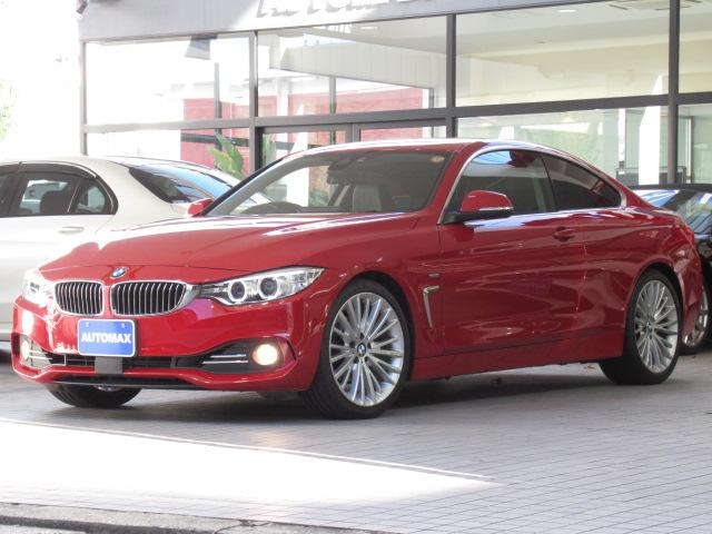 BMW 4シリーズ 420iクーペ ラグジュアリー 1オーナー ACC インテリジェントセーフティ 純正19インチアルミホイール リアパーキングアシストセンサー キセノンヘッドライト ブラックレザーシート シートヒーター コンフォートアクセス